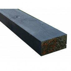New Black Softwood Treated Railway Sleepers 200mm x 100mm x 2.4m