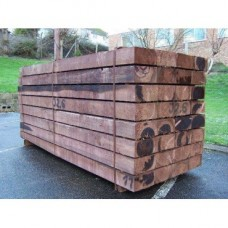 New Brown Treated Softwood Railway Sleepers 200mm x 100mm x 2.4m