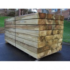New Green Treated Softwood Railway Sleepers 200mm x 100mm x 1.2m