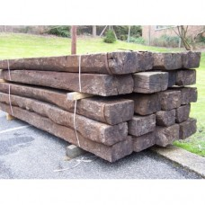 Reclaimed Hardwood Railway Sleepers 250mm x 150mm x 2.6m