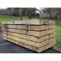 New Untreated Oak Railway Sleepers 200mm x 100mm x 2.4m